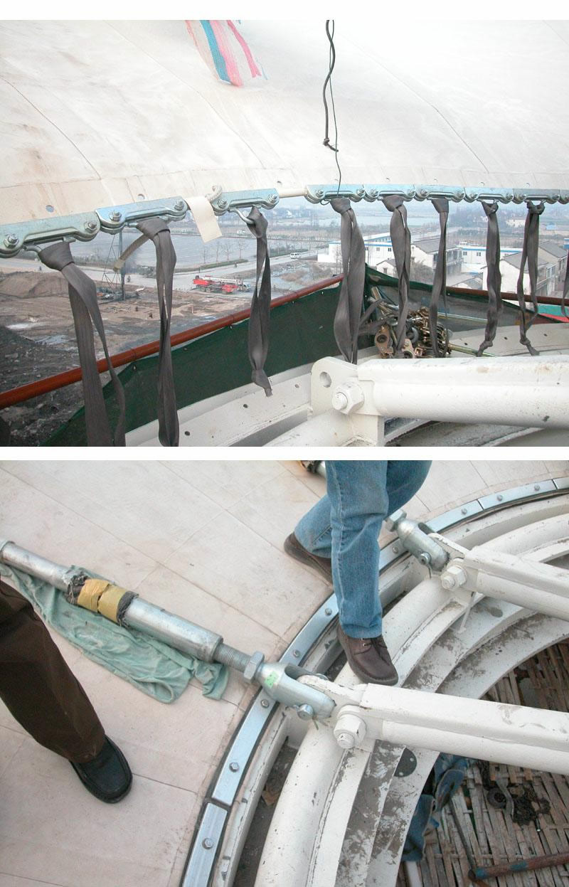 上海国际赛车场副看台屋顶膜结构工程 - 华拓钢膜结构
